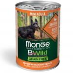 MONGE DOG WET BWILD Mini Adult утка тыква цукини, 400 грамм